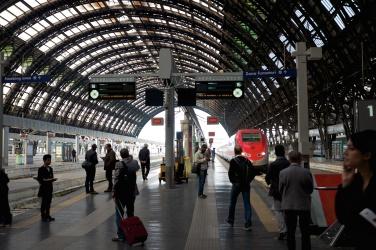 Milano, tåget mot Parm
