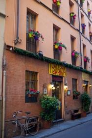 Parma, här åt vi god middag med alla konferensdeltagare