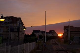 Dives-Sur-Mer, i väntan på morgontåget till Paris