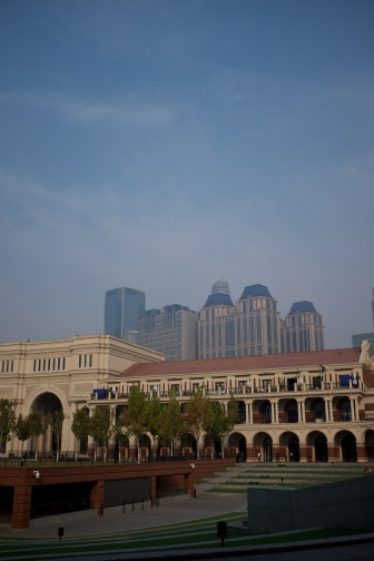 "Stadion vid ""five road avenue"" - europeisk del av Tianjin"