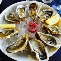 Nyfiskade ostron i Cancale