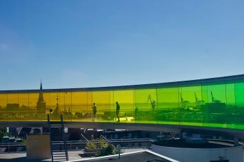 Aarhus - uppe på taket på moderna muséet