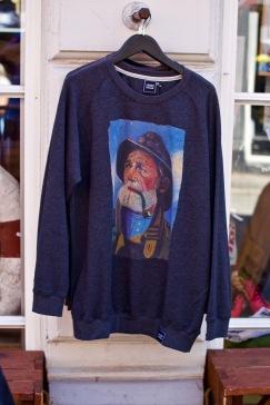 Aarhus - butik med fiskargubben som tema för alla kläder