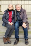 På trappan vid pensionatet