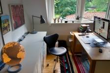 Nya arbetsrummet på andra våningen